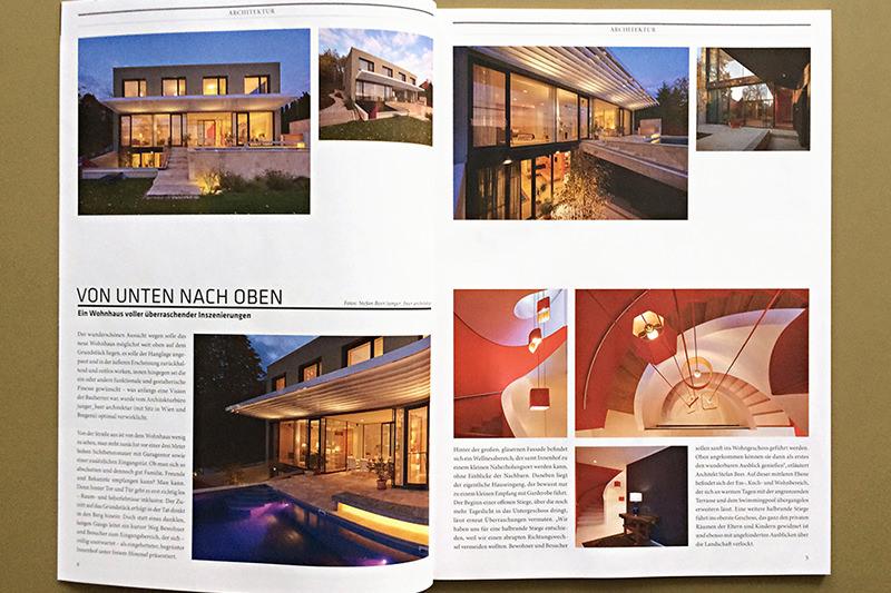 VON UNTEN NACH OBEN, Haus B&R im CUBE Magazin