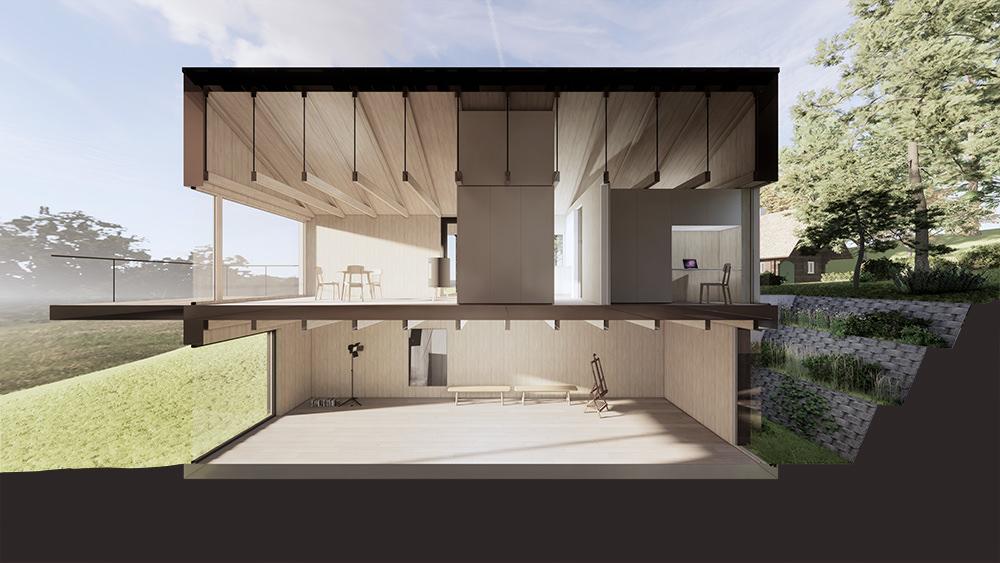 Schnitt Architekt Bauernhaus