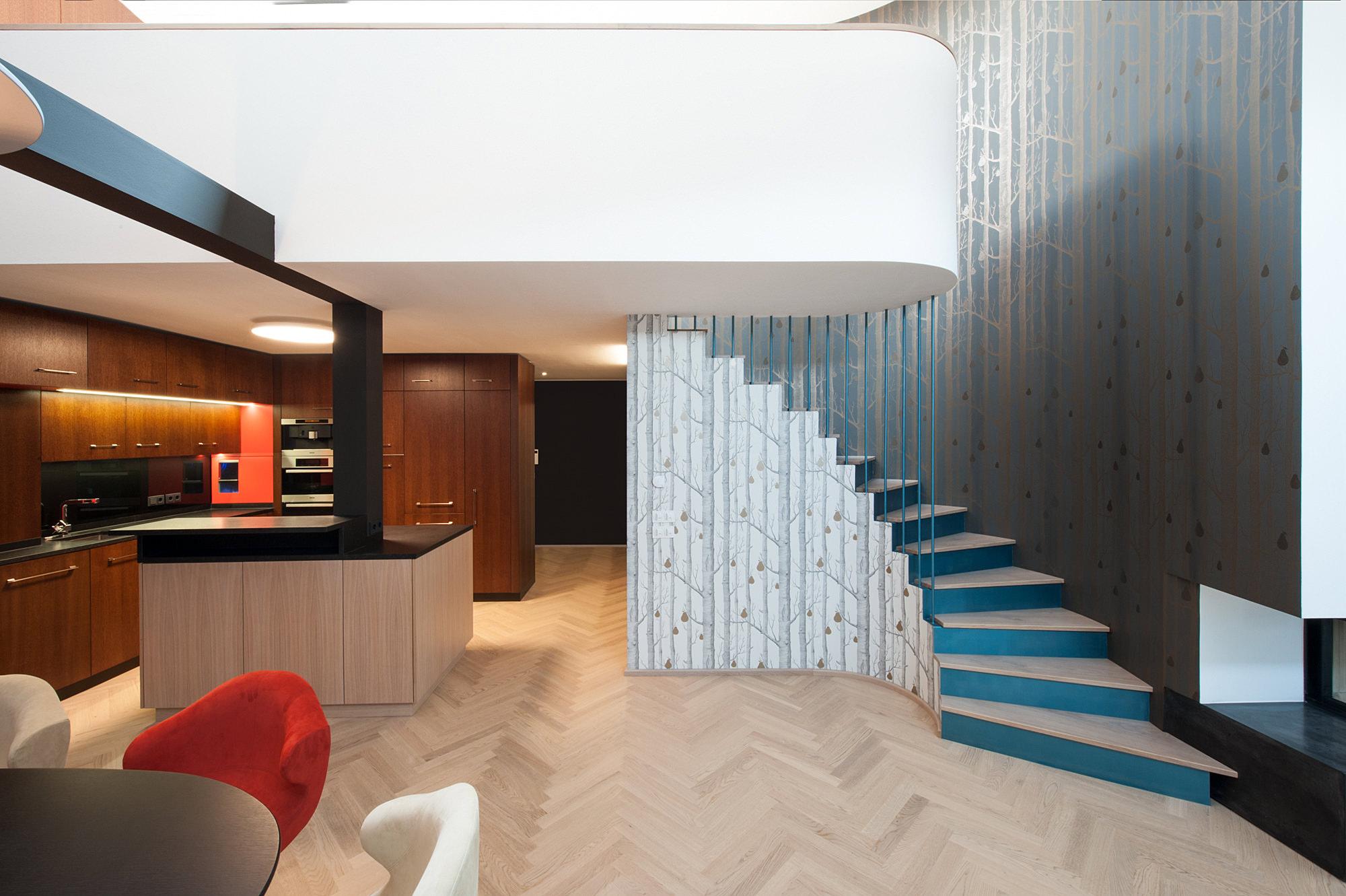 penthouse w 01 umbau dachausbau 1040 wien junger beer architektur