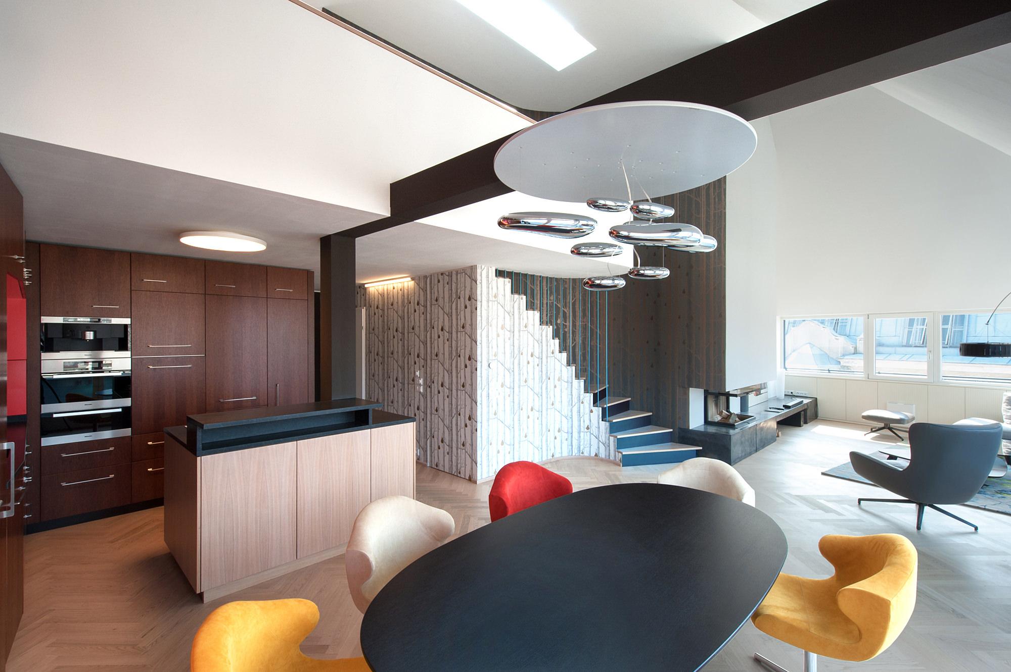 penthouse w 02 umbau dachausbau 1040 wien junger beer architektur