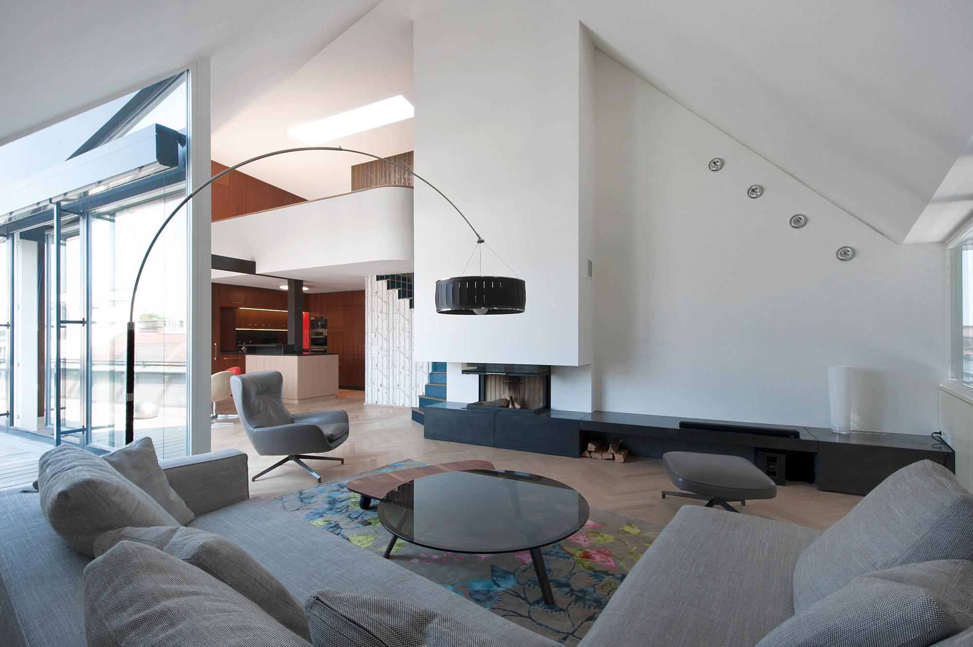 penthouse w 05 umbau dachausbau 1040 wien junger beer architektur