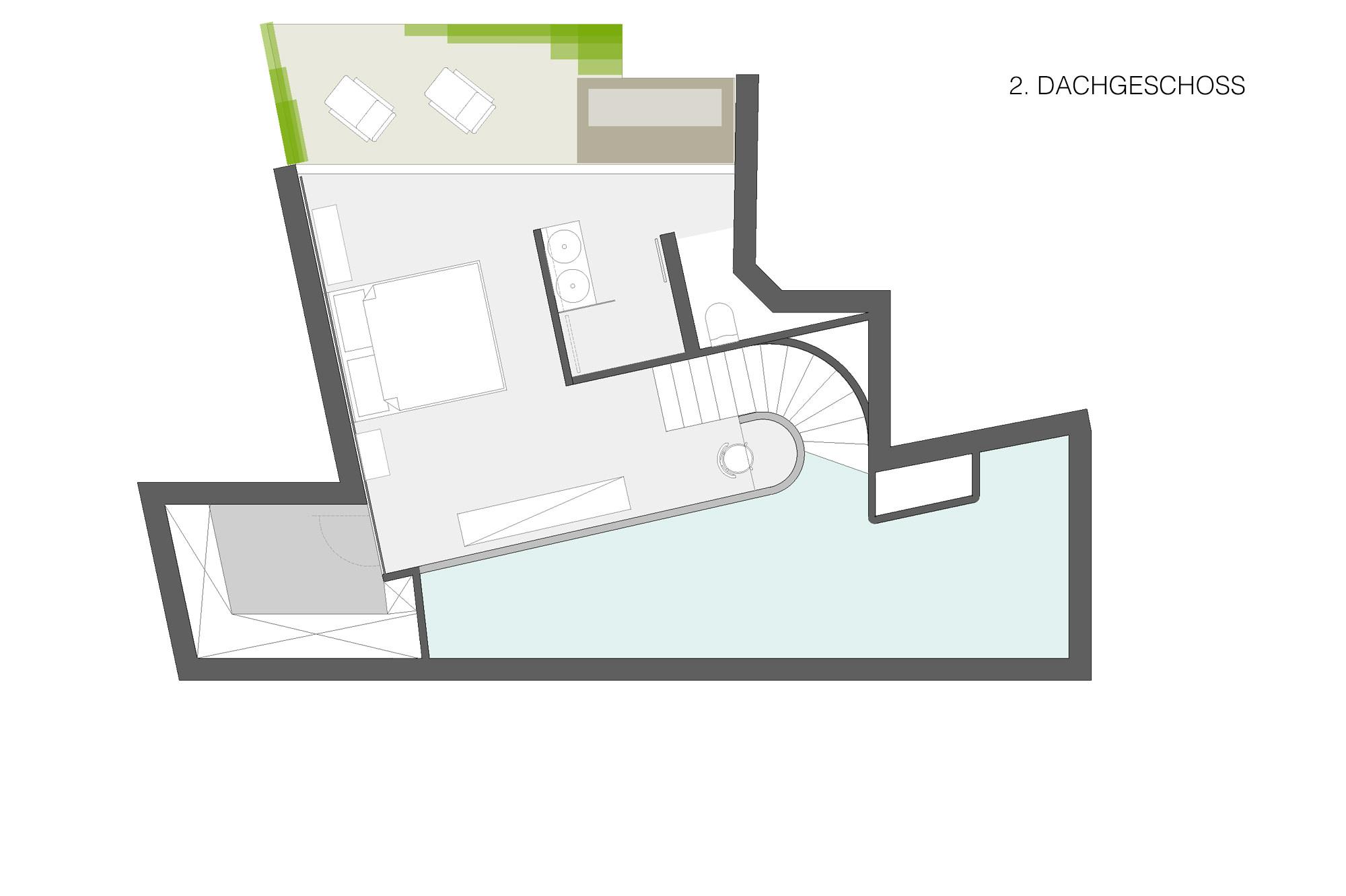 penthouse w 10 umbau dachausbau 1040 wien junger beer architektur