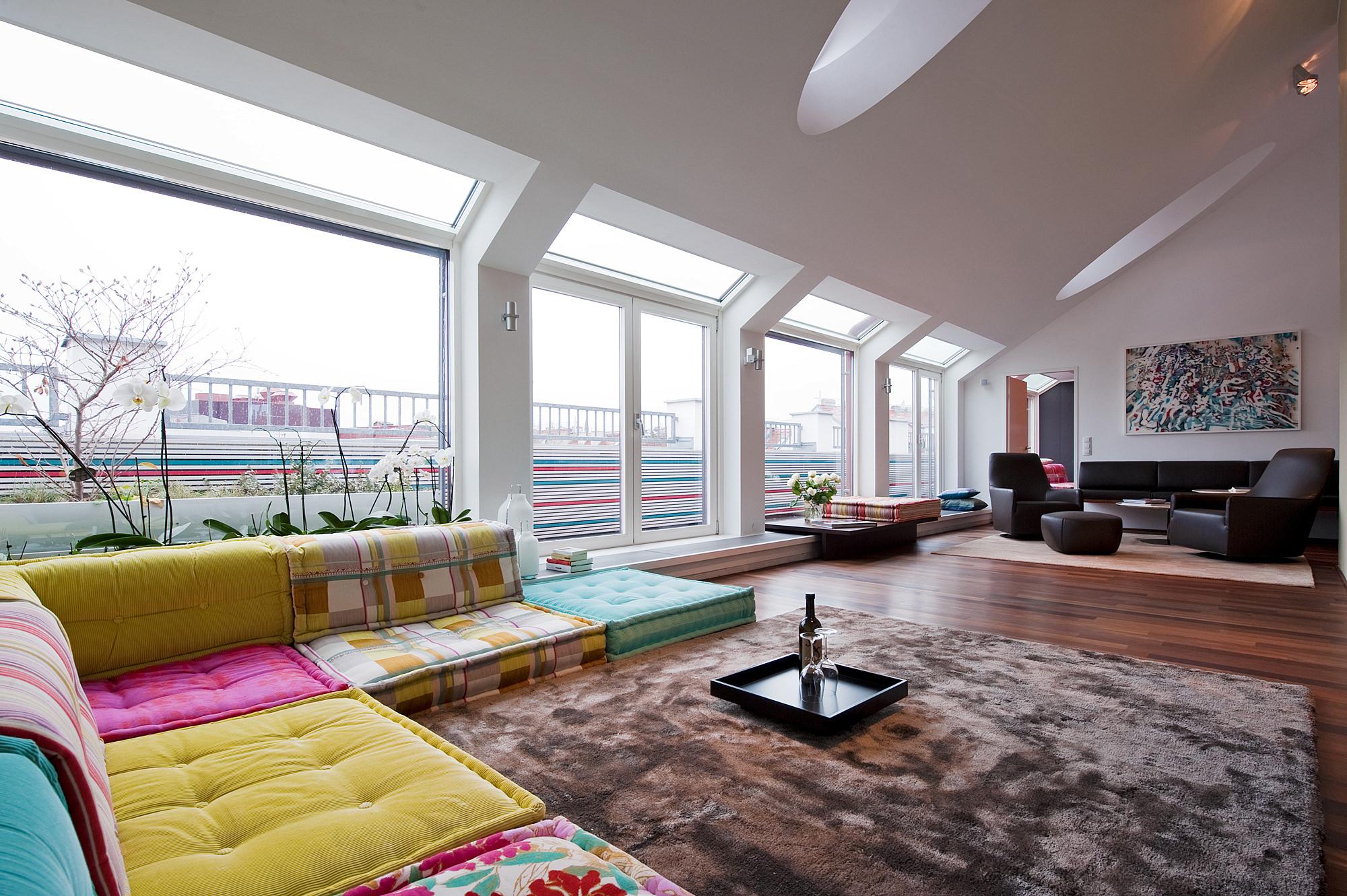 penthouse wien 4 01 umbau und innenraumgestaltung einer dachgeschosswohnung  junger beer architektur
