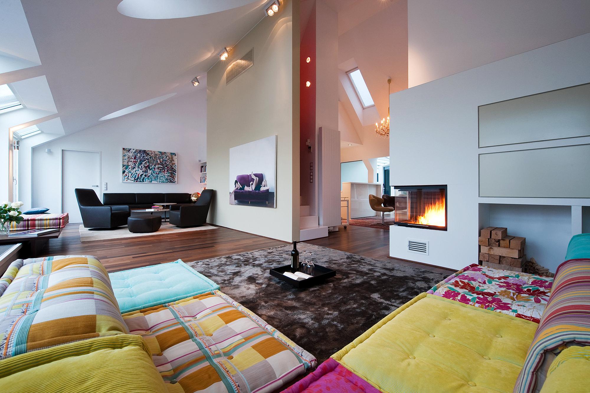 penthouse wien 4 02 umbau und innenraumgestaltung einer dachgeschosswohnung  junger beer architektur