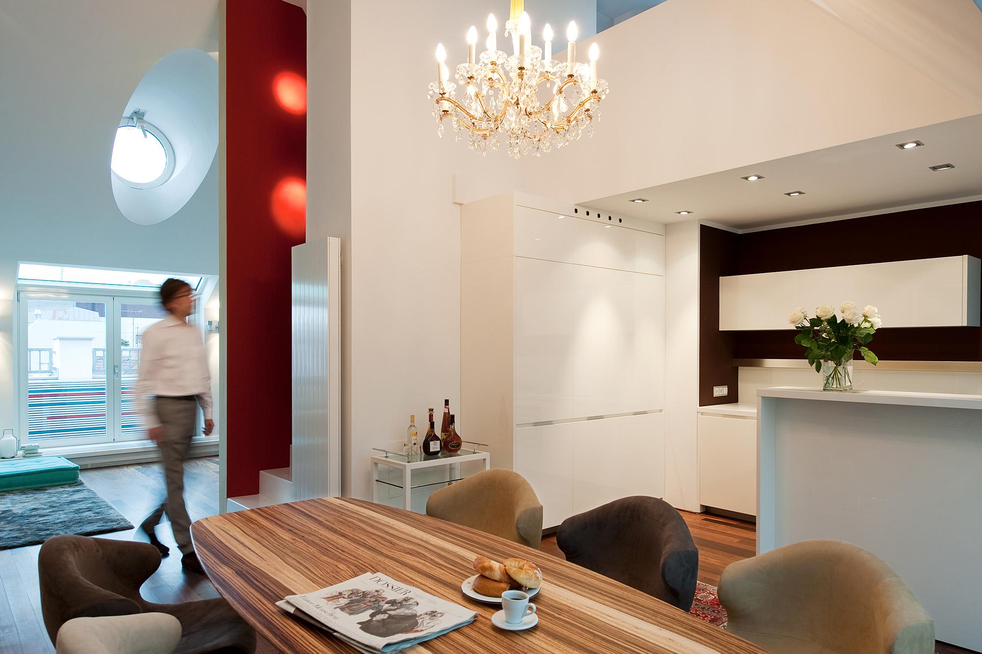 penthouse wien 4 04 umbau und innenraumgestaltung einer dachgeschosswohnung  junger beer architektur